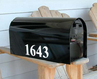 Mailbox with Numbers
