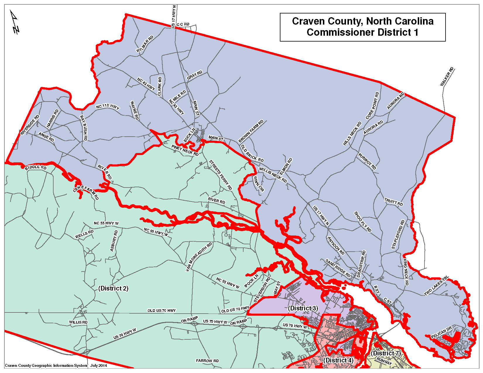 Commissioner District 1 Map
