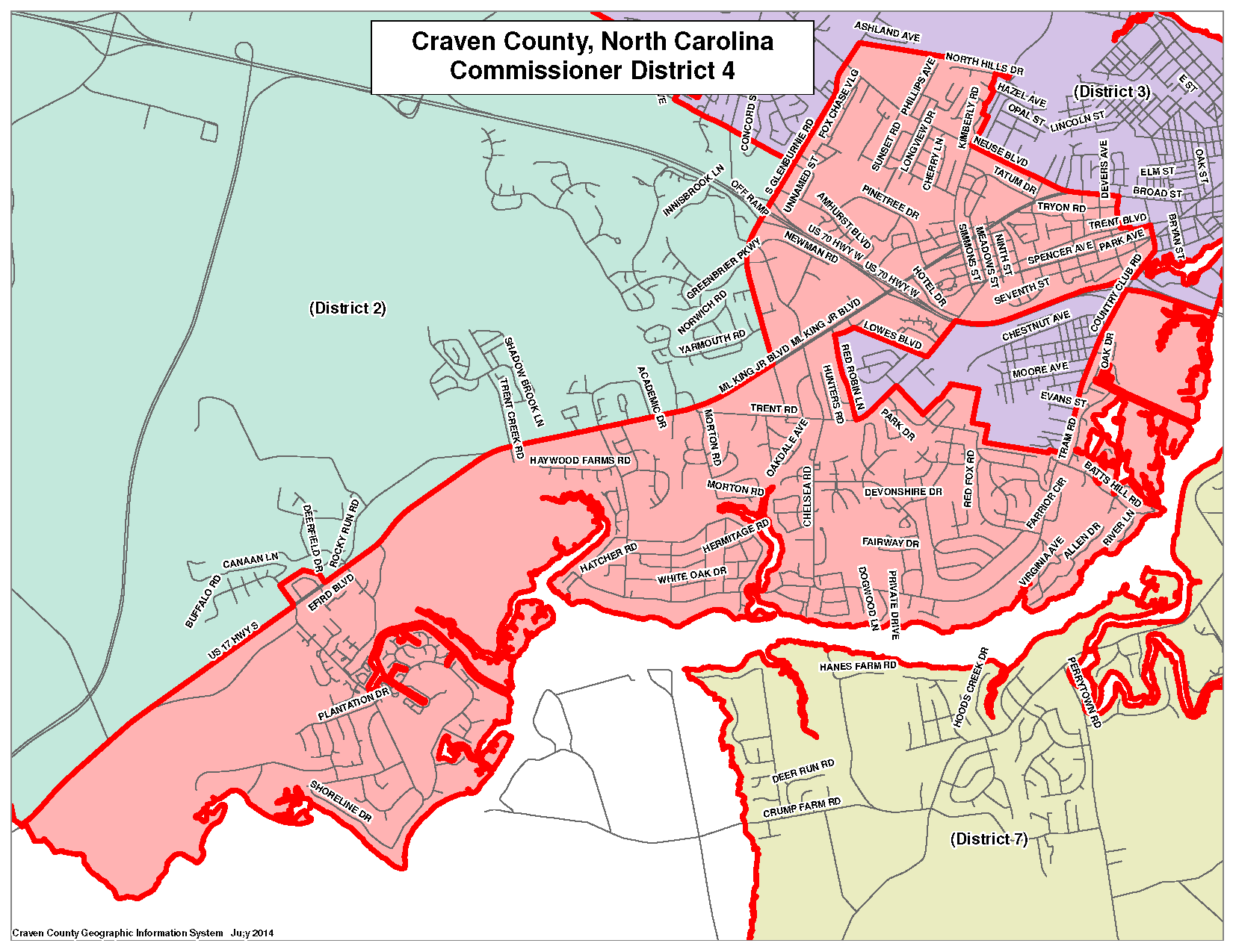 Commissioner District 4 Map