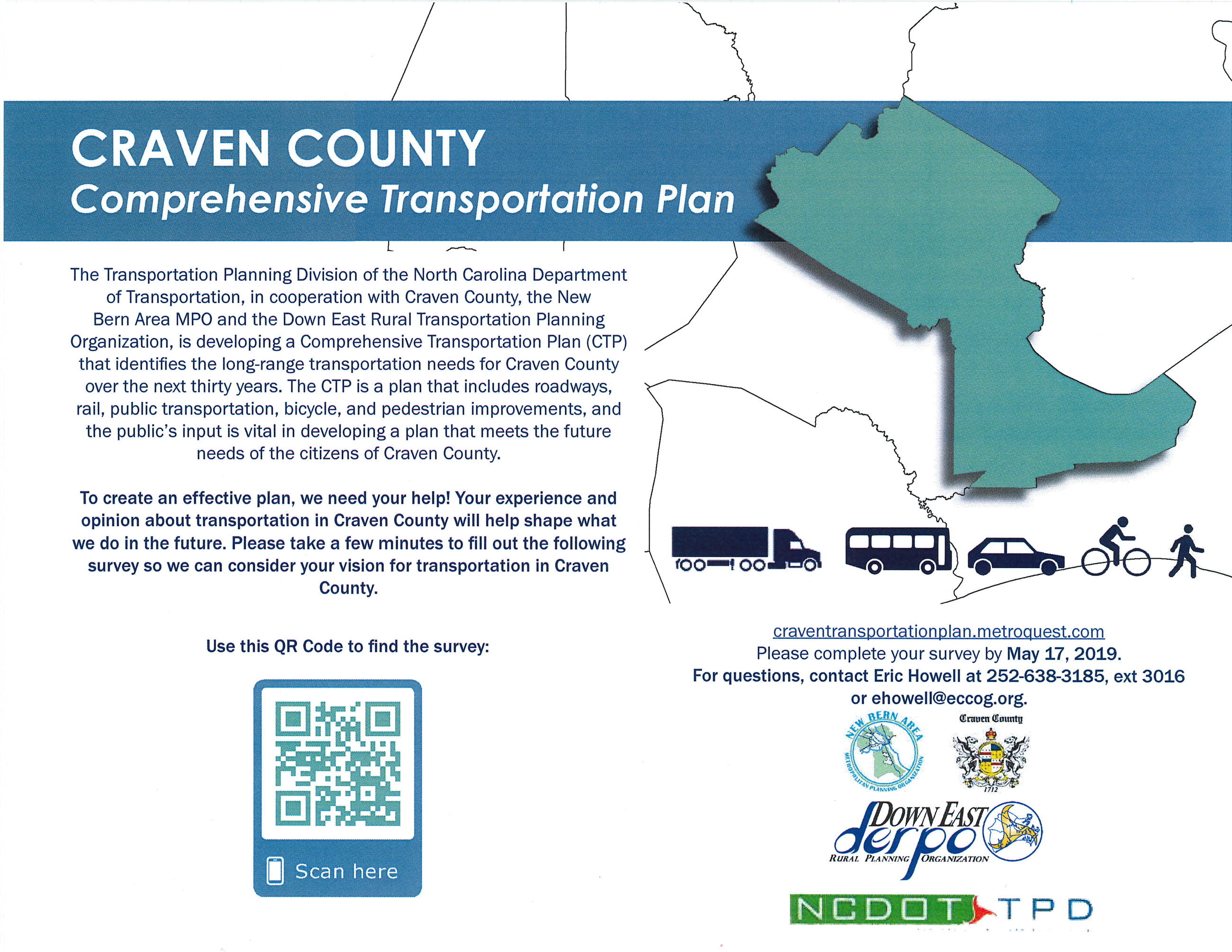 Craven County Comprehensive Transportation Plan Survey, 05-17-2019