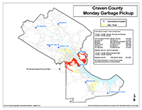 View the Monday Garbage Pickup Map Overview (PDF).