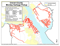 View the Monday Garbage Pickup Map Inset (PDF).