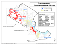 View the Tuesday Garbage Pickup Map Overview (PDF).