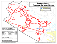 View the Tuesday Garbage Pickup Map Inset (PDF).