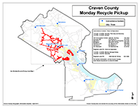 View the Monday Curbside Recyclables Pickup Map (PDF).