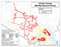 View the Monday Curbside Recyclables Pickup Map Inset (PDF).