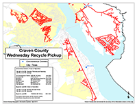 View the Wednesday Curbside Recyclables Pickup Map Inset (PDF).