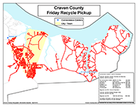 View the Friday Curbside Recyclables Pickup Map Inset (PDF).