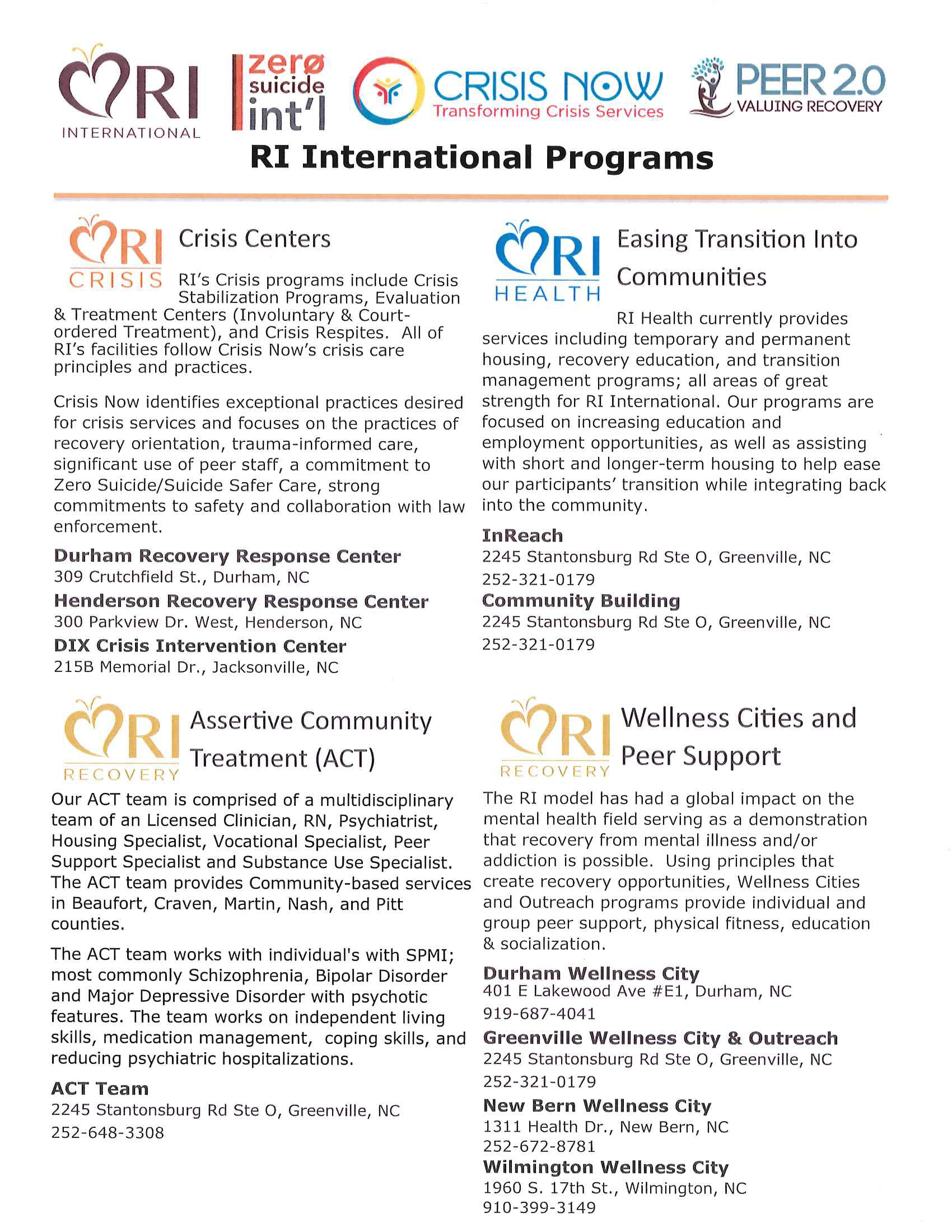 Dix Crisis Center Intervention Handout Page 2